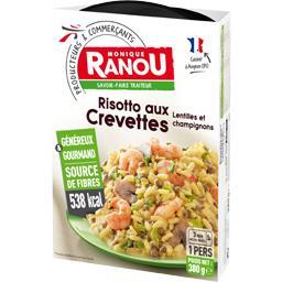 Monique Ranou Risotto aux crevettes lentilles et champignons la barquette de 380 g