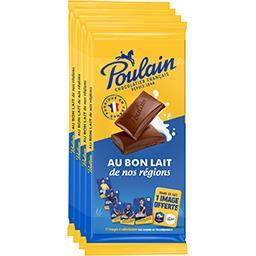 Poulain Poulain Chocolat au lait les 4 tablettes de 95g