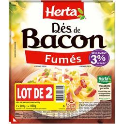 Dés de bacon fumés Herta