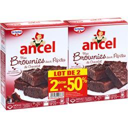 Ancel Brownies aux pépites de chocolat les 2 boites de 265 g dont la 2nde à -50%
