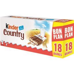 Kinder Kinder Country - Barres 5 céréales enrobées chocolat lait