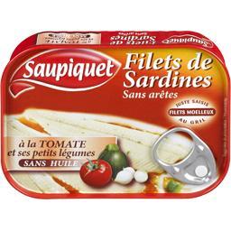 Filets de sardines tomate et ses petits légumes sans...