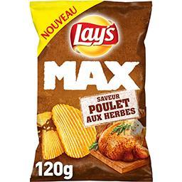 Lay's Lay's Max - Chips saveur poulet aux herbes le sachet de 120 g