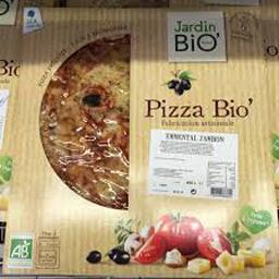 Pizza BIO emmental jambon fabrication artisanale