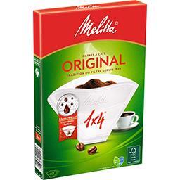 Mélitta Melitta Filtres à café 1x4 blanc la boite de 40