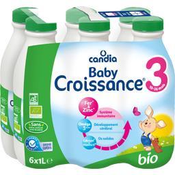 Candia Baby Croissance BIO, lait de suite pour nourrissons et aliment lacté pour enfants en bas âge