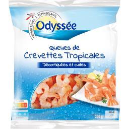 Queues de crevettes tropicales 30/40