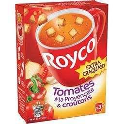 Royco Royco Soupe tomates à la provençale & croûtons les 3 sachets de 25,9 g