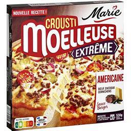 Marie Marie Crousti Moelleuses - Pizza Extrême L'Américaine bœuf/cheddar cornichons la boite de 530 g