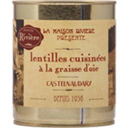 Lentilles cuisinées