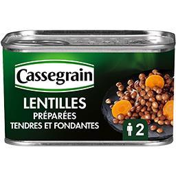 Cassegrain Cassegrain Lentilles préparées la boite de 265 g net égoutté