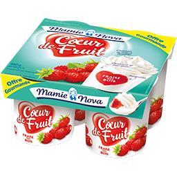 Mamie Nova Cœur de Fruit - Spécialité laitière fraise des bois