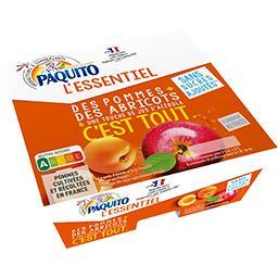 Paquito L'Essentiel - Spécialité pommes abricots sans sucres... les 4 pots de 100 g
