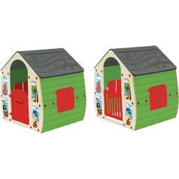 Maison d'enfant avec porte et volet décor pirate