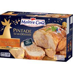 Pintade semi-désossée farcie au foie gras de canard et sauterne 5/6 personnes