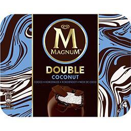 Magnum Magnum Glaces Double Coconut noix de coco la boite de 4 bâtonnets - 352 ml