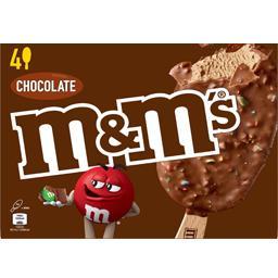 M&M's M&M's Glace Chocolate les 4 bâtonnets de 84 ml