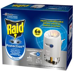 Raid Diffuseur électrique liquide Protection+ moustiques