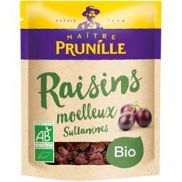 Maître Prunille Maître Prunille Raisins moelleux bio le paquet de 250 gr environ