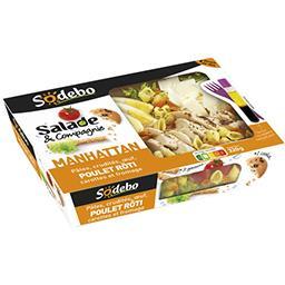 Salade & Compagnie - Salade Manhattan poulet rôti
