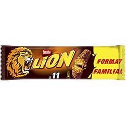Lion Gaufrette fourrée nappage caramélisé et céréales enrobage chocolat au lait
