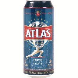 Atlas Atlas Bière blonde de tradition hollandaise la canette de 50 cl