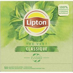 Lipton Lipton Thé vert Classique la boite de 50 sachets - 65 g