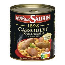 William Saurin William Saurin Cassoulet toulousain à la graisse d'oie la boite de 840 g