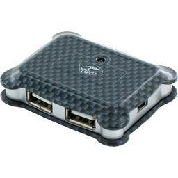Hub micro USB 4 ports Carbon