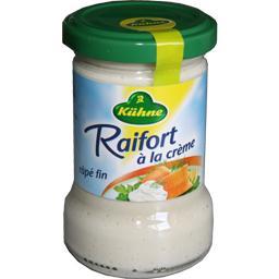 Raifort râpé fin à la crème,KUHNE,le bocal de 140g