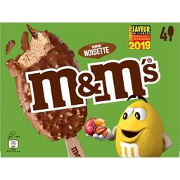 M&M's M&M's Glaces parfum noisette les 4 bâtonnets de 80 ml