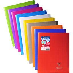 Clairefontaine Clairefontaine Cahier piqure avec rabats 240x320 seyès coloris assortis le cahier de 96 pages