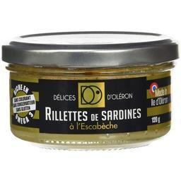 Délice d'Oléron Rillettes de Sardines à l'Escabèche 120 g -