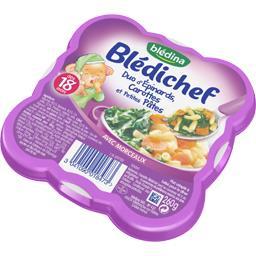 Blédichef - Duo d'épinards carottes et petites pâtes...