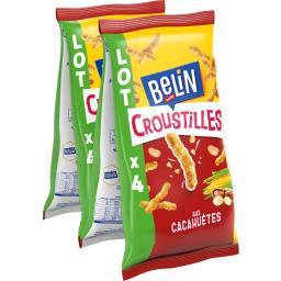 Belin Belin Croustilles - Biscuits apéritif aux cacahuètes les 4 paquets de 138 g
