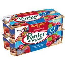 Panier de Yoplait Spécialités laitières fruits rouges les 16 pots de 125 g -