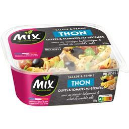 Mix Salade & penne thon olives & tomates mi-séchées la barquette de 250 g