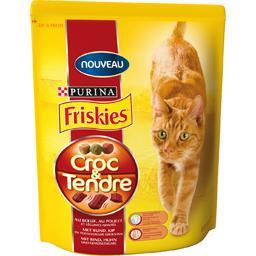 Croquettes Croc & Tendre bœuf/poulet/légumes pour chats