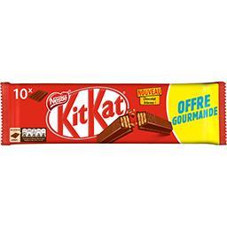 Nestlé Nestlé KitKat - Barres chocolatées les 10 barres de 41,5 g