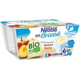 P'tit Brassé - Dessert pomme pêche BIO, dès 6 mois