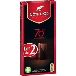 Chocolat Fin noir intense 70%