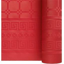 Nappe damassée 7 x 1,20 m rouge