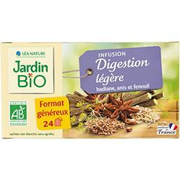 Jardin Bio Jardin bio Infusion Digestion Légère badiane anis et fenouil BIO la boîte de 24 sachets, format généreux