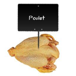 Poulet jaune certifié poulet fermier + sac