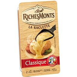 Riches Monts Riches Monts Fromage La Raclette Classique la barquette de 16 tranches - 420 g