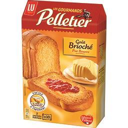 Pelletier LU Pelletier - Biscottes La Gourmande goût brioché pur beurre la boite de 20 - 260 g