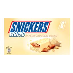 Snickers Snickers Barres glacées White saveur chocolat blanc les 6 barres de 44,6 ml