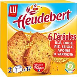 LU Heudebert Biscottes 6 céréales la boite de 300 g