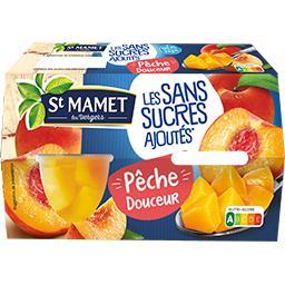 St Mamet St Mamet Sans Sucres Ajoutés - Pêche douceur les 4 pots de 113 g