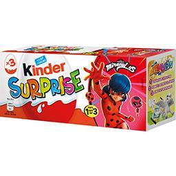 Kinder Kinder Surprise - Œufs chocolat au lait Disney Princesse les 3 pièces de 20 g